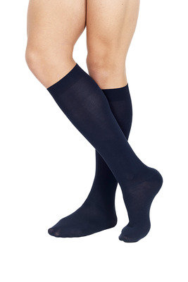 Microfibre Long Socks X3 Blue