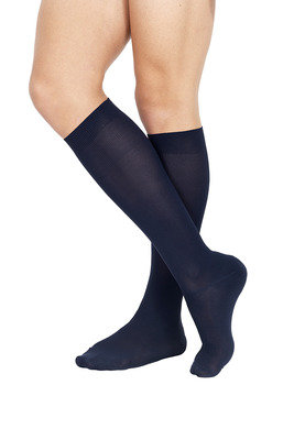 Long Socks Piquet X3 Blue