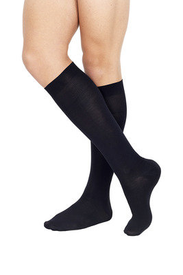 Microfibre Long Socks X3 Black