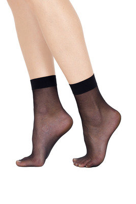 Ankle Socks Veletta 20 Den  X2 Black