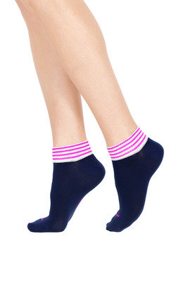 Socks Active Up Move Blue/Fuxia