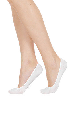 Women Cotton Shoe Liner Silicon X3 White