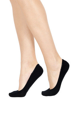 Women Cotton Shoe Liner Silicone X4 Black