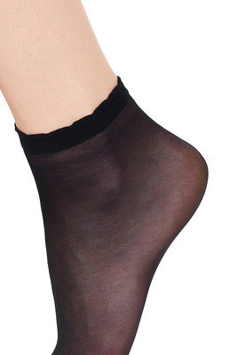 Ankle Socks Socquette 15 X2 Black