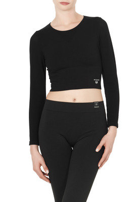 Top a manica lunga Space nero