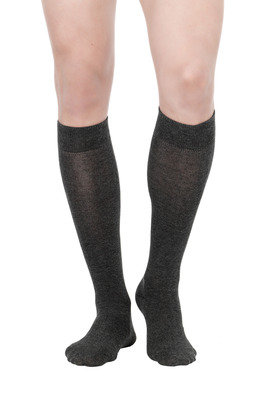 Long Socks hot cotton X3 grey