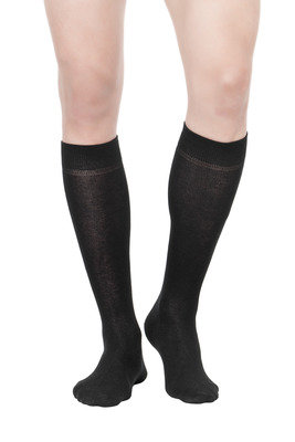 Long Socks hot cotton X3 black