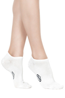 Lisle Mini Socks Unisex white