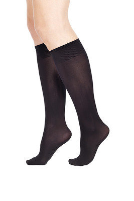 Microfibre 50 Knee High extra fit black