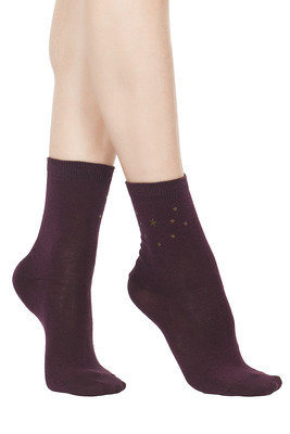 Socks Fabiola bordeaux