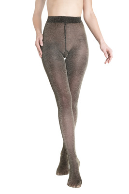 Tights Lars black and gold color