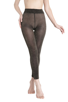 Leggings Lars black and gold color