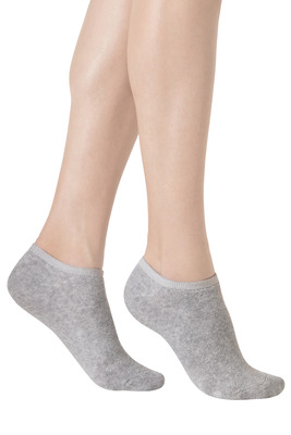 Women Mini Socks hot cotton melange grey