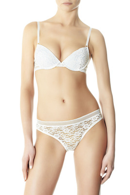 Slip pizzo Lace bianco