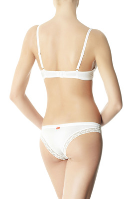 Brazilian briefs cotton-modal Angel Lace white with lace