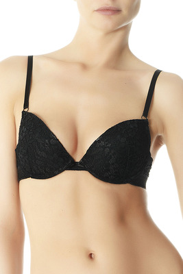 Reggiseno pizzo push-up Lace nero