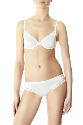 Wired bra cotton-modal Angel Lace white with lace