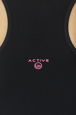 Canotta microfibra donna Active Up nero a costine