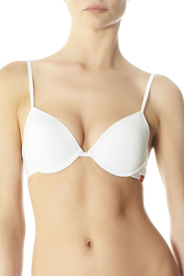 Push up bra cotton white