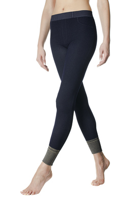 Leggings viscosa Valnerina blu effeto denim
