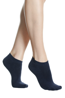 Women mini socks soft terry cotton blue