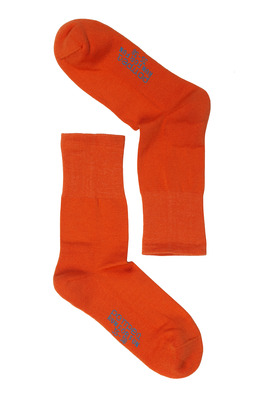 UNISEX orange cotton socks Run For Fun