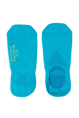 Salvapiede cotone Run For Fun turchese con silicone