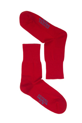 UNISEX red cotton socks Run For Fun