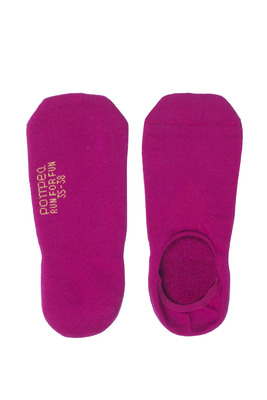 Salvapiede cotone UNISEX Run For Fun fuxia con silicone