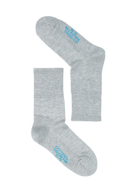 UNISEX grey mèlange cotton socks Run For Fun