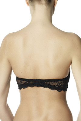 Strapless bra microfibre and lace Eligere black