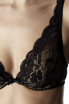 Padded bralette microfibre and lace Eligere black