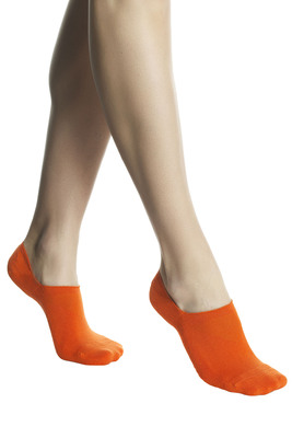 Salvapiede cotone UNISEX Run For Fun viola con silicone