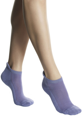 UNISEX grey mèlange cotton mini socks Run For Fun