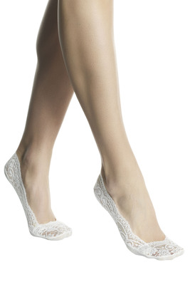 Shoe liner cotton Pizzo white lace with anti-slip