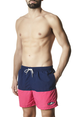 Men's Gael blue and coral swimming shorts