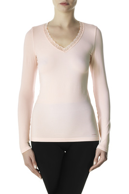 Pink long-sleeves microfibre top Eligere