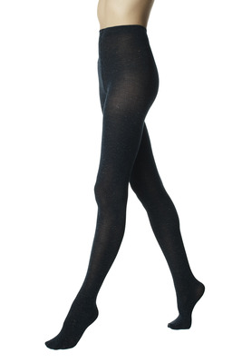 Blue opaque fashion hot tights Domitilla with lamé
