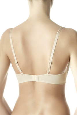 Nude color microfibre and lace padded bra Tango cups B - C