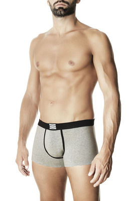 Melange grey cotton boxer shorts Oscar