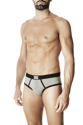 Melange grey cotton briefs Oscar