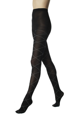 Black opaque fashion tights Veronica