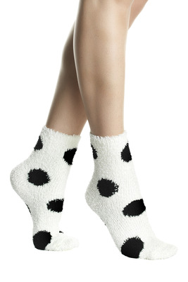 Calzino moda soft touch Animal fantasia pois