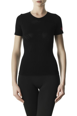 T-shirt donna Performance Active Up microfibra traforata nero