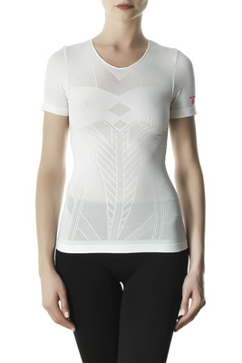 T-shirt donna Performance Active Up microfibra traforata bianco