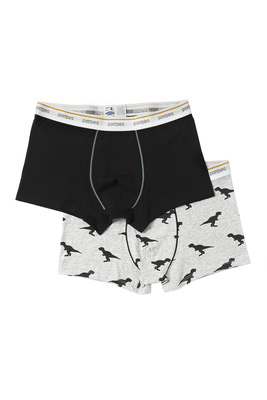 Dinosaurs-black set cotton boxer shorts Hector pack x2