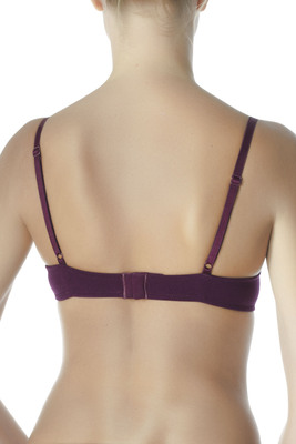 Red wine microfibre push-up bra Eligere