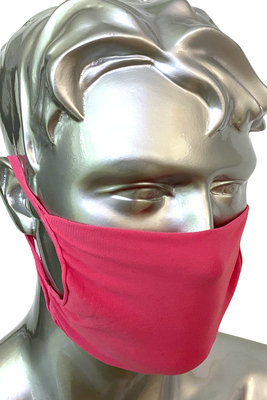 Fuchsia unisex protective mask for the community P.Mask, washable and re-usable with bacteriostatic yarn pack x2