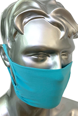 Sky blue unisex protective mask for the community P.Mask, washable and re-usable with bacteriostatic yarn pack x2